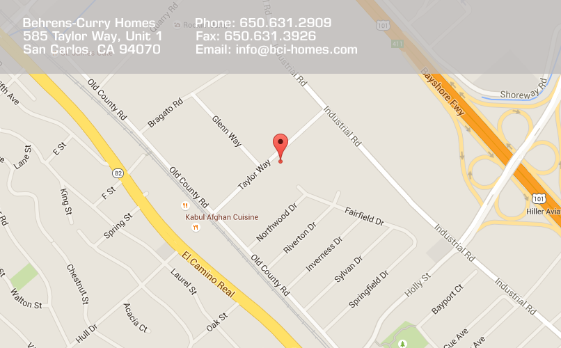 Google Map of 585 Taylor Way, Unit 1, San Carlos, CA 94070